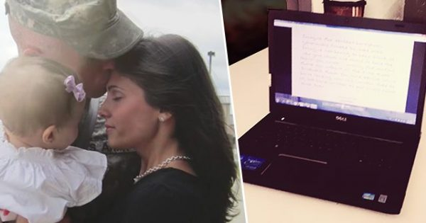 Her husband died on duty in Afghanistan – 2 days after funeral, she opens his laptop and finds a hidden file