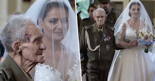 WWII hero passes away just two days after proudly walking granddaughter down the aisle