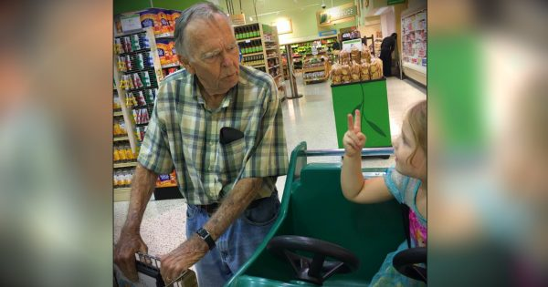 4-yr-old girl calls lonely widower 'old'. His unexpected response changed both of their lives forever