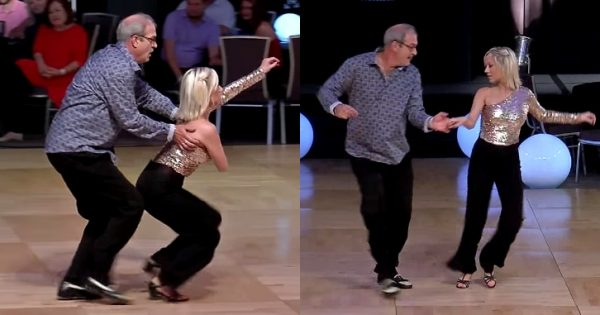 Audience say man is too old to dance – when the music starts he reduces them to silence