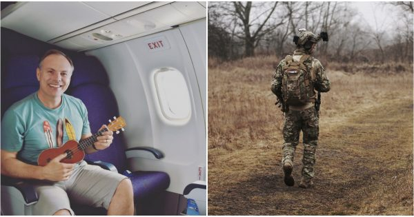 Man gives his 1st class seat to soldier – 6 years later, gets surprising anonymous note