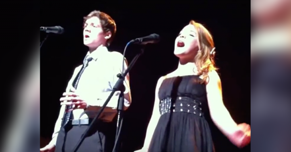 2 nervous teens stand on stage. Moments later, they stun entire audience with their rendition of 'The Prayer'