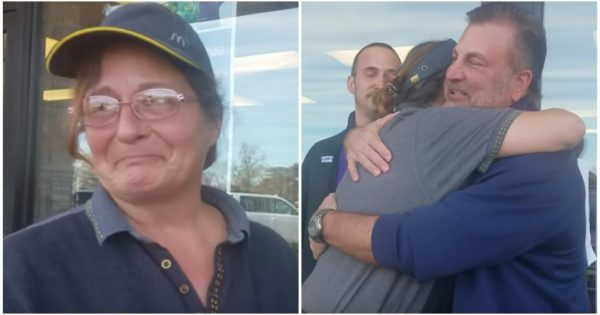 Confused McDonald's worker asked to step outside by customer – breaks down when she realizes what's waiting for her