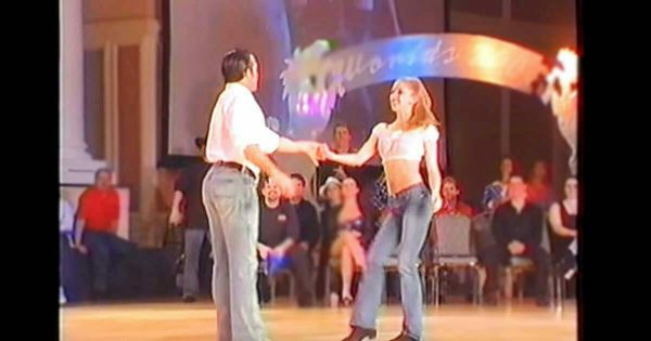 Audience falls silent when he asks for her hand – but just watch when they start dancing