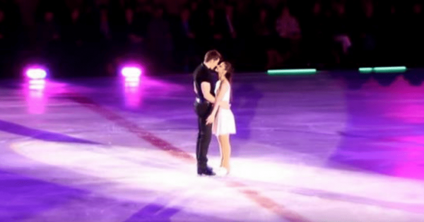 Man grabs partner on ice – within seconds their 'dirty dancing' routine makes audience's eyes pop