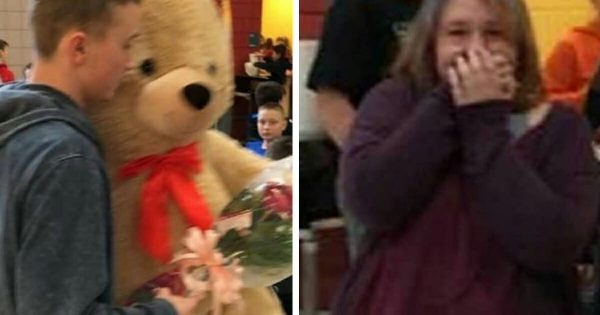 Bullied girl is mocked by cruel kids on Valentine's Day, then kind-hearted teen decides he's had enough