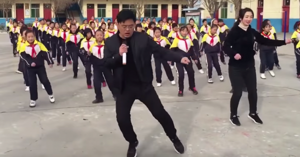 Principal is tired of students on computer all day – breaks the rules and internet with his insane dance routine