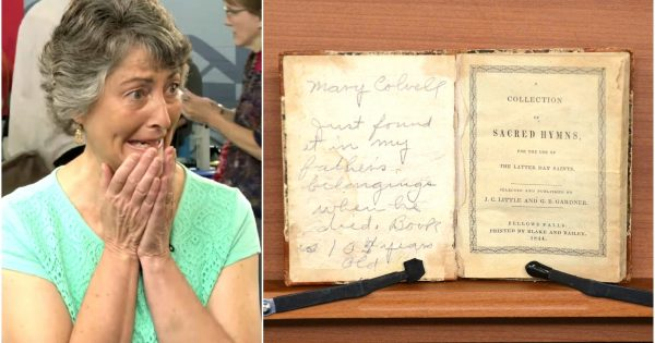 Woman discovers worn out hymn book in basement –  shakes after finding out its true value