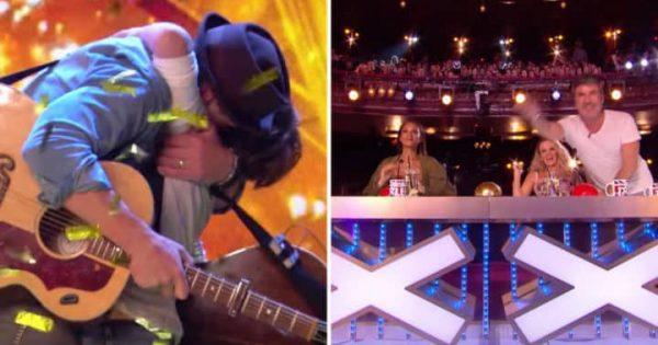 Father-son duo's emotional audition impresses Simon so much he slams the golden buzzer