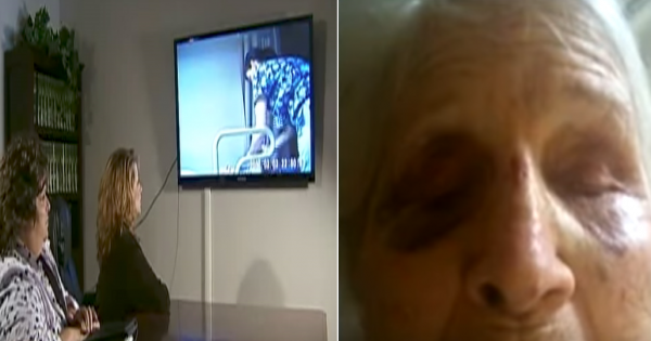 Grandma keeps 'falling out of wheelchair' so family sets up hidden camera to see if nurses are lying