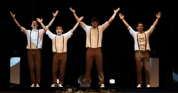 Four teens dance to last 60s classic, then switch it up in epic fashion when music changes