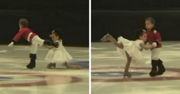 "4-Year-old twins take ice to perform ""The Nutcracker"" – leave audience speechless with insane skating skills"