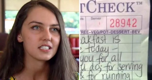 Waitress sees 2 exhausted firefighters walk in – Writes note on check that leads them to take action