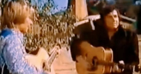 Rare footage of John Denver & Johnny Cash singing 'Country Roads' is unearthed, 42 years after filming
