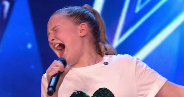 10-yr-old walks into stage – earns golden buzzer after leaving judges speechless with her powerhouse voice