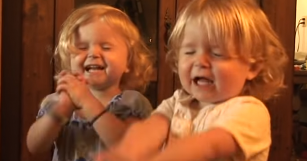 Dad asks his twins to recite the lord's prayer, but their antics have everyone laughing