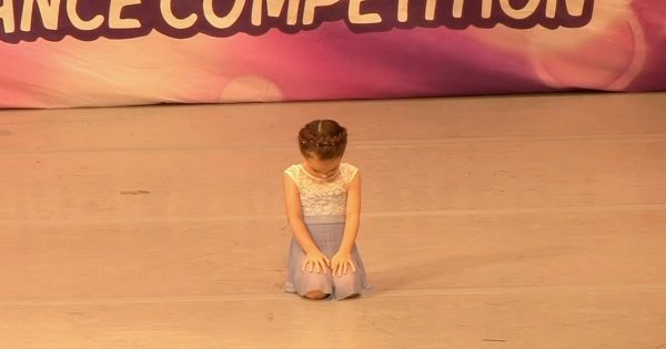 4-year-old gets into dance position, only to look up and win hearts with talent beyond her years
