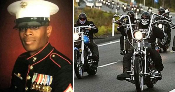 Bikers find out marine's remains being sent home by USPS – refuse to let it happen