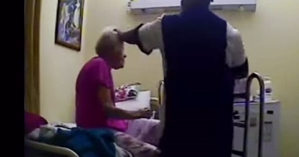 Shocking camera footage shows 84-year-old woman being cruelly assaulted by caregiver
