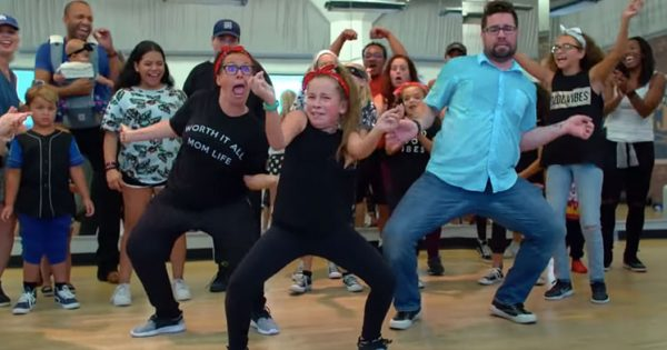 Kids invited their parents to dance class – Mom and dad blow them away with crazy moves