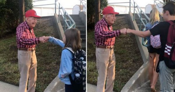94-year-old veteran approached school girl, worried mom learns his lifelong secret