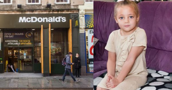 4-year-old screams inside McDonald's Bathroom then mom looks at the toilet seat and discovers horrible prank