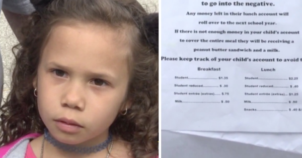 School made 6-year-old student to do the 'walk of shame' because she couldn't pay for lunch
