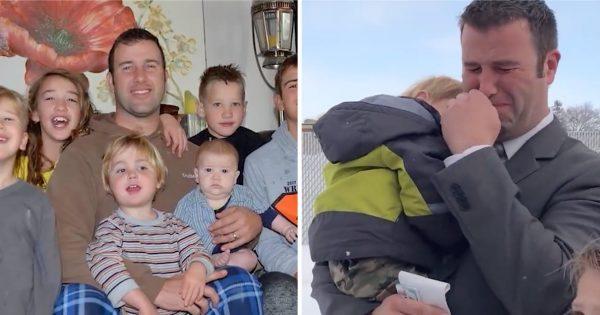 "Heartbroken widower left with 7 children receives early Christmas surprise from ""Secret Santa"""