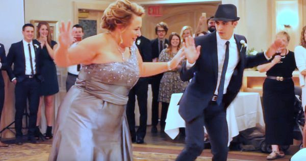Groom and mom take the dance floor, but their routine is nothing like you've imagined
