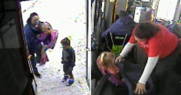 Bus driver saves little kids wandering alone in bitter cold without coats