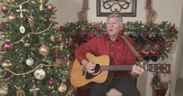 After 54 years, Great-grandfather finally gets his Christmas song played on the radio