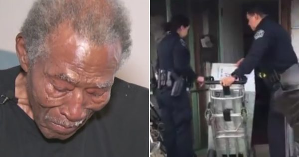Cops find 92-yr-old veteran warming his house with gas stove – go above call of duty to give him what he needs