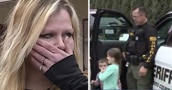 Police officers find hungry family of four living behind a store, immediately spring into action