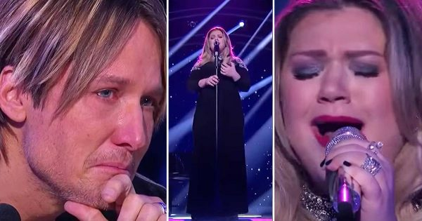 Kelly Clarkson performs emotional song on American Idol and Keith Urban can't hold back his tears