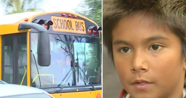10-year-old boy saves 30 kids after calling 911 on school bus driver who was driving under the influence