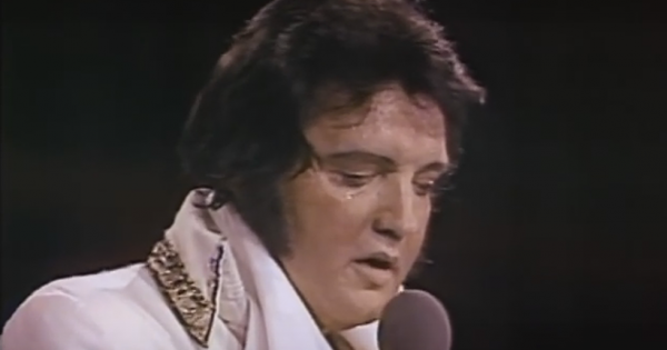 Elvis Presley performs 'Are You Lonesome Tonight' for the last time before tragic death