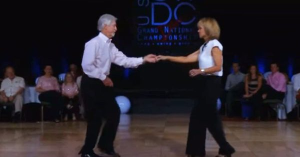 Couple who's been dancing together for 38 years wows the audience with incredible shag routine