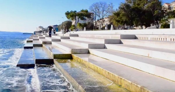 Listen to 230-ft sea organ that uses waves and winds to make mesmerzing music