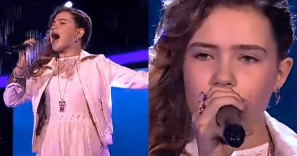 11-year-old girl sings one of the hardest songs – a few notes in, the judges jump to feet