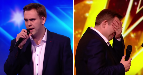 Dad receives Golden buzzer with emotional rendition of Elvis classic but it's his heartbreaking story that has everyone in tears